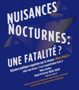 Les nuisances nocturnes : une fatalité ?